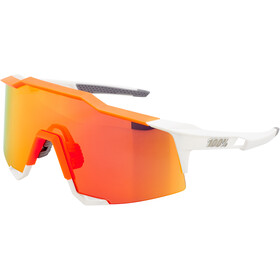 100% Speedcraft HD Multilayer/Hiper Glasses Tall white/neon orange